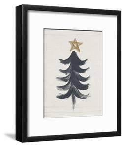 Black and Gold Tree I by Linda Woods