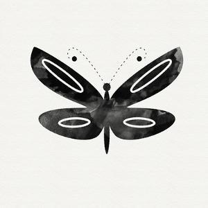 Black and White Butterfly 1 by Linda Woods