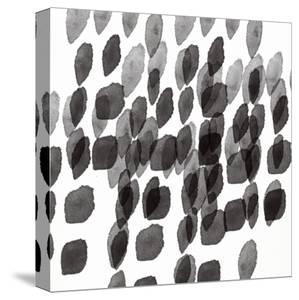Black and White Drops Pattern by Linda Woods