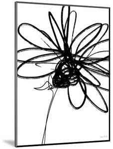 Black Ink Flower III by Linda Woods