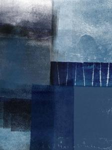 Blue Abstract I by Linda Woods