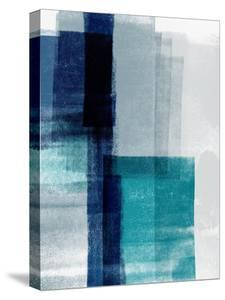 Blue Abstract V by Linda Woods
