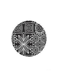 Boho Black and White Ball by Linda Woods