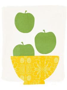 Bowl of Green Apples by Linda Woods