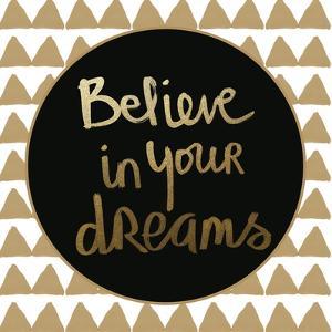 Dreams - Gold by Linda Woods