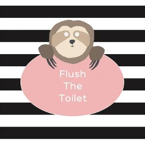 Flush the Toilet Sloth by Linda Woods