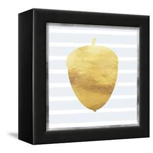 Gold and Silver Acorn by Linda Woods