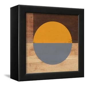 Mod Orange and Grey by Linda Woods