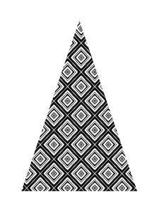 Modern Triangle Tree I by Linda Woods