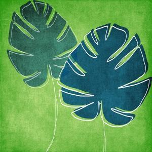 Palm Leaves by Linda Woods