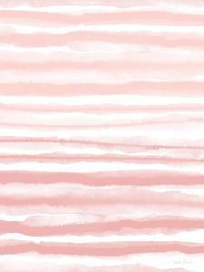 Pink Watercolor Waves by Linda Woods