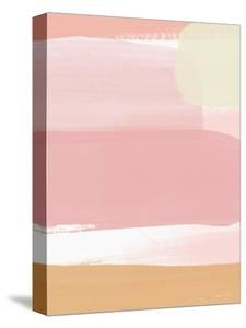 Sunset Pink Stripe I by Linda Woods