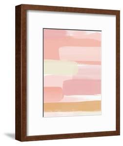 Sunset Pink Stripe II by Linda Woods
