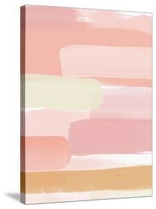 Sunset Pink Stripe II by Linda Woods