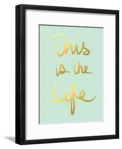 This Is the Life Mint Gold by Linda Woods