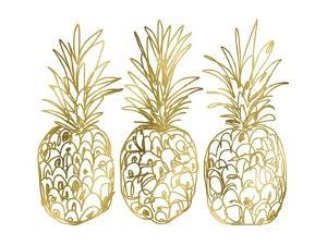 Three Golden Pineapples by Linda Woods