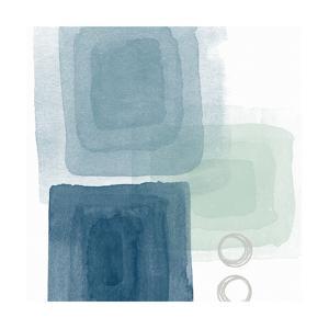 Watercolor Blocks III by Linda Woods