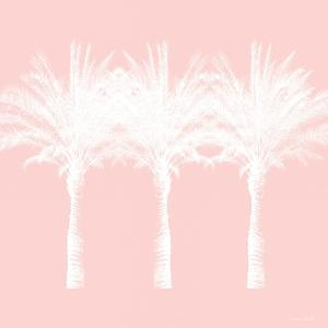 White and Pink Palm Trees by Linda Woods