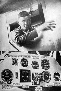 Lindbergh in Plane