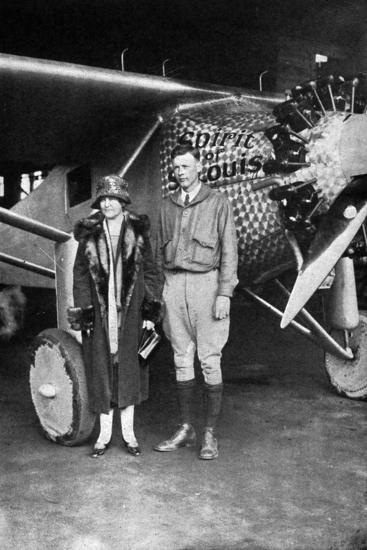 Lindbergh, Louis and Mum--Photographic Print