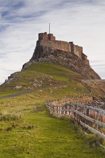 Lindisfarne Castle on Holy Island, Northumberland, England, United Kingdom, Europe-Julian Elliott-Photographic Print