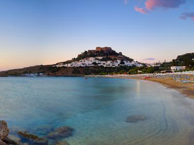 Lindos Acropolis and Village, Lindos, Rhodes, Greece-Doug Pearson-Photographic Print