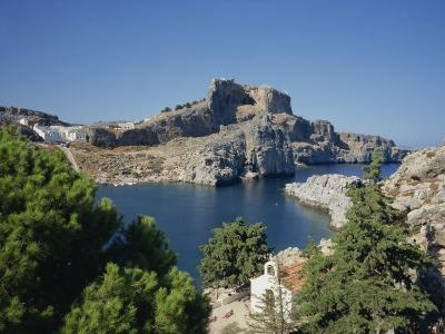 Lindos Acropolis on the Island of Rhodes, Dodecanese, Greek Islands, Greece-Teegan Tom-Photographic Print