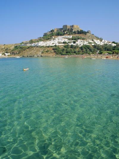 Lindos, Rhodes, Greece-Fraser Hall-Photographic Print