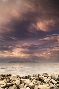 Great Salt Lake Sunset With Antelope Island In The Background by Lindsay Daniels