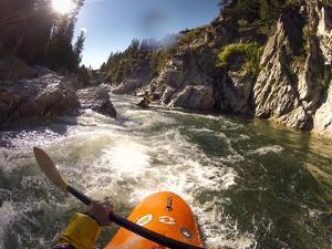 Helmet Cam Shot Of Swirly Canyon, Class Iii, On The Payette River by Lindsay Daniels