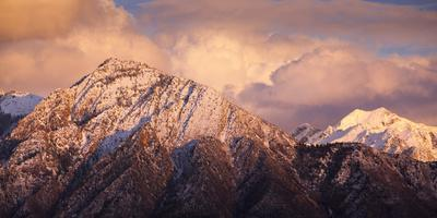 Mount Olympus And Twin Peaks Of The Wasatch Mountains In Utah