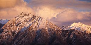 Mount Olympus And Twin Peaks Of The Wasatch Mountains In Utah by Lindsay Daniels