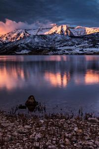 Mount Timpanogos At Sunrise With Deer Creek Reservoir In The Foreground by Lindsay Daniels