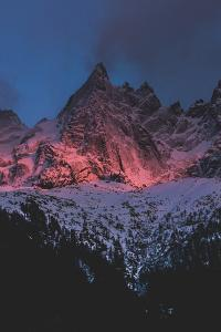 Mountains Of Chamonix, France At Sunset by Lindsay Daniels