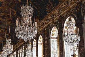 Room Of Chandeliers In The Palace Of Versailles by Lindsay Daniels