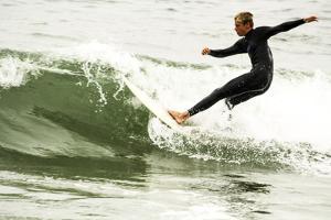Surfing In Newport by Lindsay Daniels