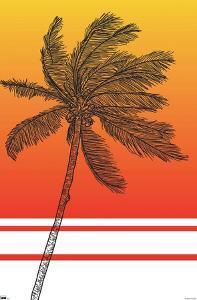 Line Art - Palm Tree