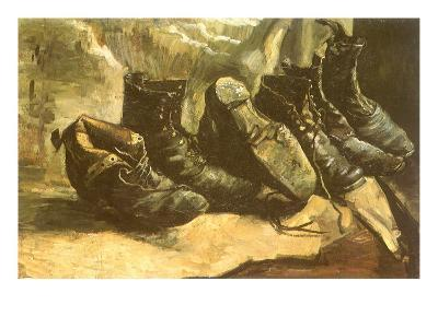 Line of Old Boots, 1886-Vincent van Gogh-Giclee Print