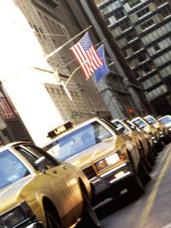 Line of Taxi Cabs in New York City, New York, USA-Bill Bachmann-Photographic Print