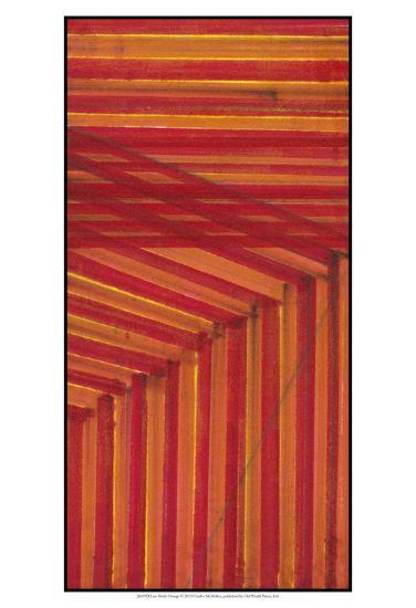 Line Study Orange-Charles McMullen-Art Print
