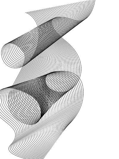 Line Swirl 1-Indigo Sage Design-Art Print