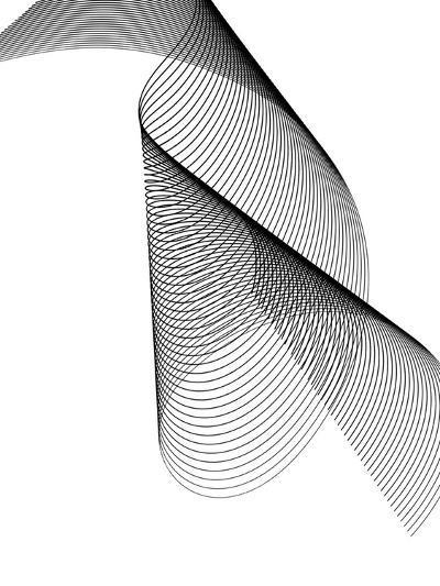 Line Swirl 2-Indigo Sage Design-Art Print