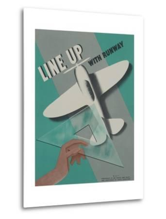 Line Up with Runway Safety Poster