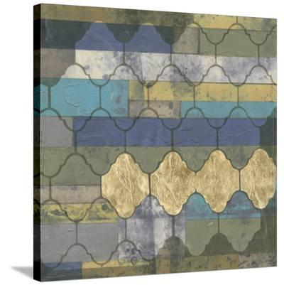 Linear Arabesque I-Jennifer Goldberger-Stretched Canvas Print