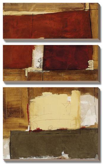 Linear Conversations I-Marc Johnson-Canvas Art Set