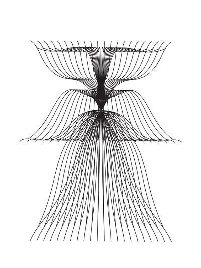 Linear Flower--Art Print