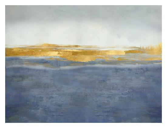 Linear Gold on Blue-Jake Messina-Giclee Print