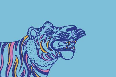 Linear Tiger--Giclee Print