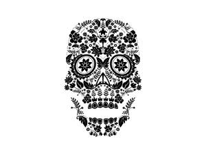 Day of the Dead Skull by lineartestpilot