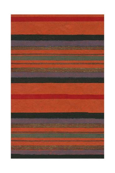 Lined Rug Pattern-Found Image Press-Giclee Print